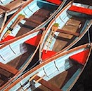 Red and Blue Boats